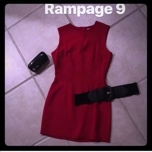 Holiday Macy's Rampage dress work office red